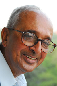 BG Verghese shortly before the release of his memoir, First Draft, 2010